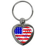 MEAH USA FLAG Key Chain (Heart)