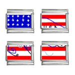 MEAH USA FLAG 9mm Italian Charm (4 pack)