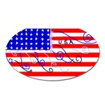 MEAH USA FLAG Magnet (Oval)