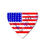 MEAH USA FLAG Magnet (Heart)