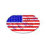 MEAH USA FLAG Sticker Oval (100 pack)