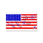 MEAH USA FLAG Sticker Rectangular (100 pack)