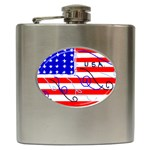 MEAH USA FLAG Hip Flask (6 oz)