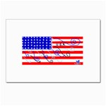 MEAH USA FLAG Postcard 4  x 6