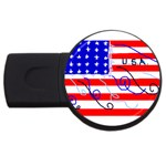 MEAH USA FLAG USB Flash Drive Round (1 GB)