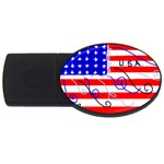 MEAH USA FLAG USB Flash Drive Oval (1 GB)