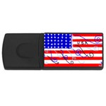 MEAH USA FLAG USB Flash Drive Rectangular (2 GB)