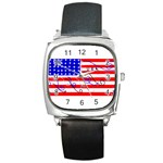 MEAH USA FLAG Square Metal Watch