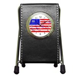 MEAH USA FLAG Pen Holder Desk Clock