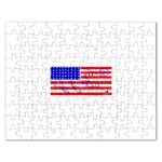 MEAH USA FLAG Jigsaw Puzzle (Rectangular)