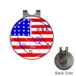 MEAH USA FLAG Golf Ball Marker Hat Clip