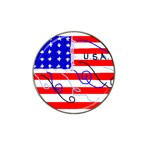 MEAH USA FLAG Hat Clip Ball Marker (10 pack)