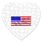 MEAH USA FLAG Jigsaw Puzzle (Heart)