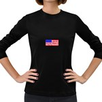 MEAH USA FLAG Women s Long Sleeve Dark T-Shirt