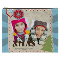 Merry Christmas By Merry Christmas   Cosmetic Bag (xxxl)   8not8fyqsdio   Www Artscow Com Front