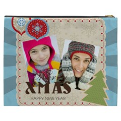 Merry Christmas By Merry Christmas   Cosmetic Bag (xxxl)   8not8fyqsdio   Www Artscow Com Back