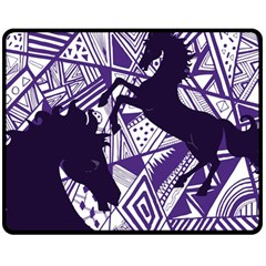 Year Of The Horse Fleece Blanket (medium) by Contest1732250