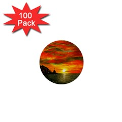 Alyssa s Sunset By Ave Hurley Artrevu   1  Mini Button (100 Pack)  by ArtRave2