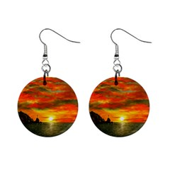 Alyssa s Sunset By Ave Hurley Artrevu   1  Button Earrings by ArtRave2