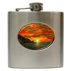 Alyssa s Sunset By Ave Hurley Artrevu   Hip Flask (6 Oz) by ArtRave2