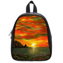 Alyssa s Sunset By Ave Hurley Artrevu   School Bag (small) by ArtRave2