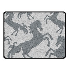 Year Of The Horse Ii Fleece Blanket (small)