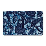 AFRICAN PRINT BLUE WAX Magnet (Rectangular)