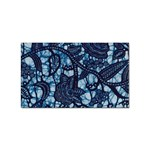 AFRICAN PRINT BLUE WAX Sticker Rectangular (100 pack)
