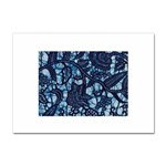 AFRICAN PRINT BLUE WAX Sticker A4 (10 pack)