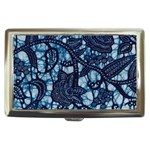 AFRICAN PRINT BLUE WAX Cigarette Money Case