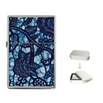 AFRICAN PRINT BLUE WAX Flip Top Lighter