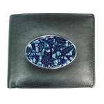 AFRICAN PRINT BLUE WAX Wallet