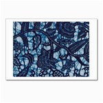AFRICAN PRINT BLUE WAX Postcard 4 x 6  (Pkg of 10)