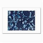 AFRICAN PRINT BLUE WAX Postcards 5  x 7  (Pkg of 10)