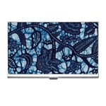 AFRICAN PRINT BLUE WAX Business Card Holder