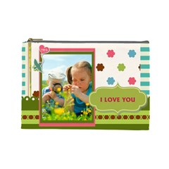 Kids By Kids   Cosmetic Bag (large)   Nuhu2ncokkwo   Www Artscow Com Front