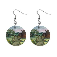 amish Apple Blossoms  By Ave Hurley Of Artrevu   1  Button Earrings