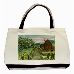 amish Apple Blossoms  By Ave Hurley Of Artrevu   Basic Tote Bag (two Sides) by ArtRave2