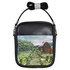 Amish Apple Blossoms  by Ave Hurley of ArtRevu ~ Girls Sling Bag by ArtRave2