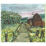 Amish Apple Blossoms  by Ave Hurley of ArtRevu ~ Deluxe Canvas 14  x 11  (Stretched) 14  x 11  x 1.5  Stretched Canvas