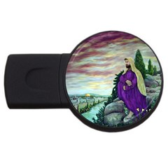 Jesus Overlooking Jerusalem - Ave Hurley - ArtRave - 4GB USB Flash Drive (Round) by ArtRave2
