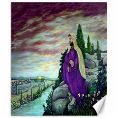 Jesus Overlooking Jerusalem   Ave Hurley   Artrave   Canvas 8  X 10  (unframed) by ArtRave2