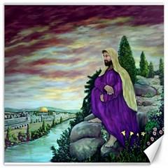 Jesus Overlooking Jerusalem   Ave Hurley   Artrave   Canvas 20  X 20  (unframed) by ArtRave2