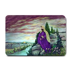 Jesus Overlooking Jerusalem   Ave Hurley   Artrave   Small Door Mat by ArtRave2