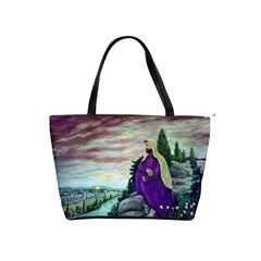 Jesus Overlooking Jerusalem   Ave Hurley   Artrave   Large Shoulder Bag