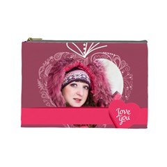 Love By Ki Ki   Cosmetic Bag (large)   Rda2fd5ahy79   Www Artscow Com Front