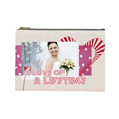 Love By Ki Ki   Cosmetic Bag (large)   Ddm2x6itr302   Www Artscow Com Front