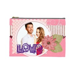 Love By Ki Ki   Cosmetic Bag (large)   Sorb110j242t   Www Artscow Com Front