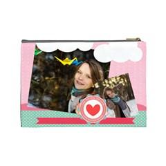 Love By Ki Ki   Cosmetic Bag (large)   3ealix93uyly   Www Artscow Com Back