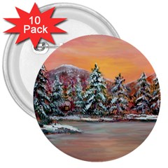jane s Winter Sunset   By Ave Hurley Of Artrevu   3  Button (10 Pack) by ArtRave2